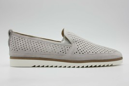 FRANCO SARTO Hadrea Womens Suede Loafer Slip On Flats Perforated Steel Size 10 - $75.99