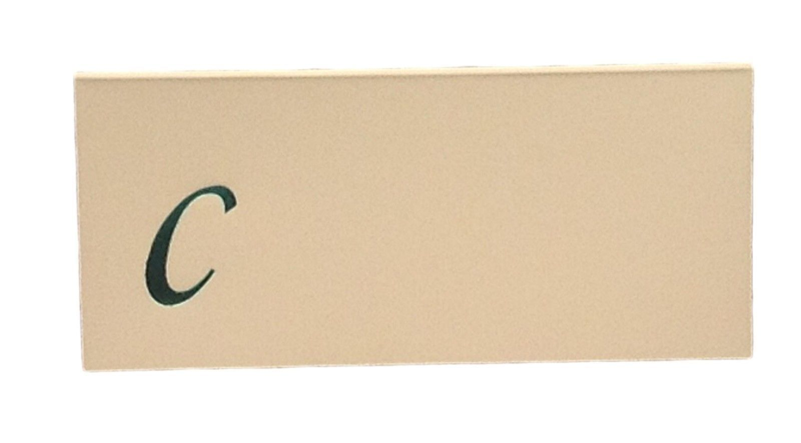 Large C - 50 Monogrammed place cards white or ivory block or script font image 3