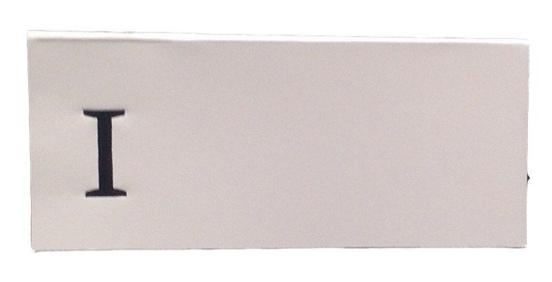 Large I - 50 Monogrammed place cards white or ivory block or script font
