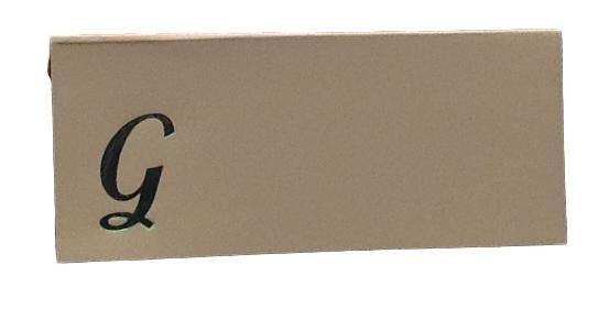 Large G - 50 Monogrammed place cards white or ivory block or script font