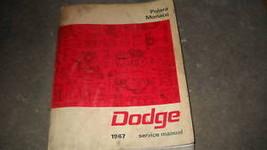 1967 DODGE POLARA MONACO Service Repair Shop Manual OEM FACTORY 67 BOOK x - $69.39