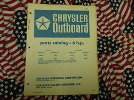 1970 Chrysler Outboard 6 HP Parts Catalog - $19.79