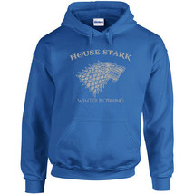 085 House Stark Hoodie sigil game winter is coming thrones wolf vintage retro - $30.00+