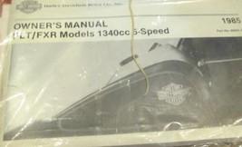 1985 Harley Davidson FLT & FXR Owners Operators Owner Manual Brand New 1985 - $54.40