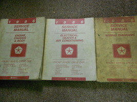 1986 Chrysler NEW YORKER Dodge Aires Charger Service Shop Repair Manual Set - $138.55