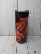 G5  Starbucks 2018 Holiday Coffee Tumbler Red Orange flowers poppies - $44.54