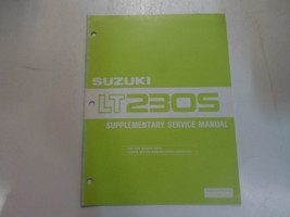 1988 Suzuki Lt230 S Supplementary Service Manual Minor Fading Book 87 Dealership - $24.74