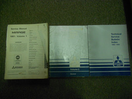 1991 Mitsubishi Mirage Service Repair Shop Manual Factory Oem Book 91 3 Vol Set - $48.22