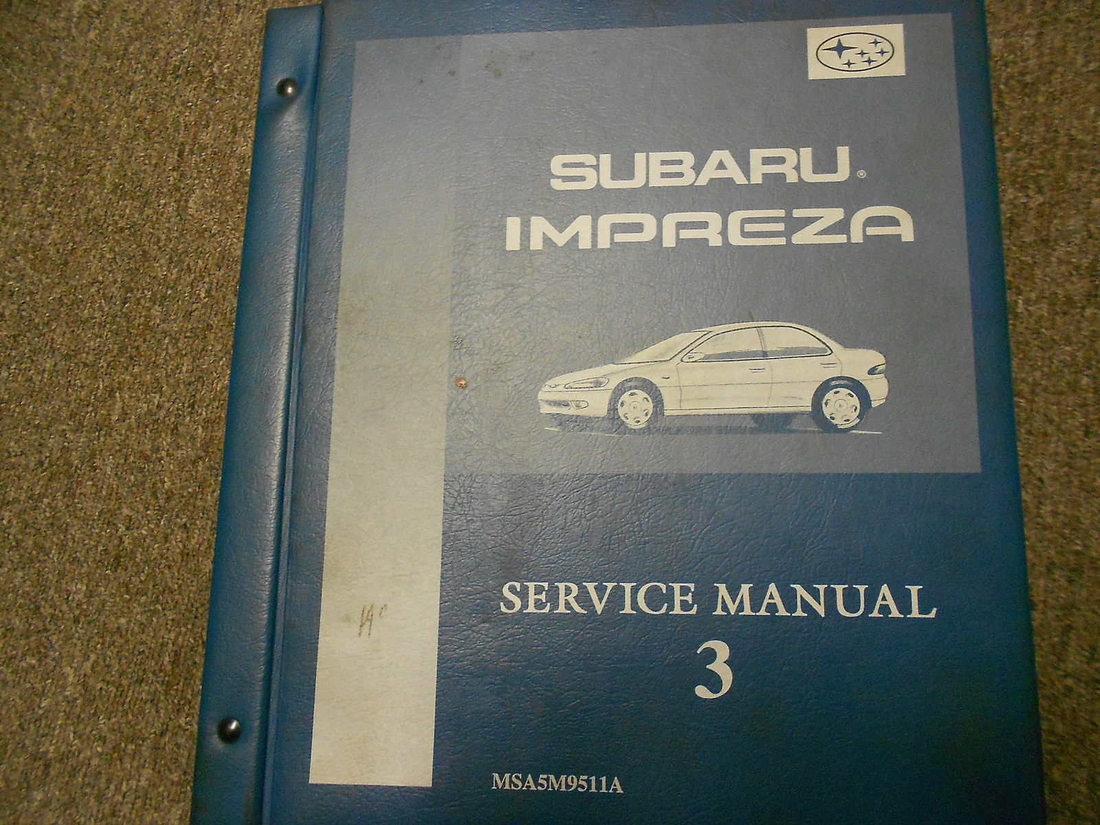 1995 Subaru Impreza Gen Info Service Repair Shop Manual #2 # 2 BINDER  FACTORY 95