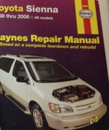 1998 2000 2002 2005 2005 2006 Toyota SIENNA Mini Van Haynes Repair Manual x - $43.99