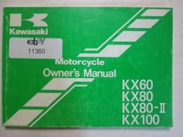 1999 Kawasaki KX60 KX80 KX80-II KX100 Motorcycle Owners Operators Owner Manual x - $49.45