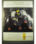 1966 Schweppes Tonic Water Ad - Britons - be proud! The French are stealing - $14.99
