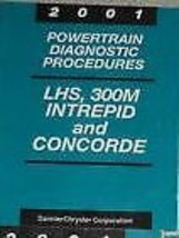 2001 Chrysler Lhs Concorde Dodge 300 M Intrepid Powertrain Diagnostic Manual Oem - $11.88