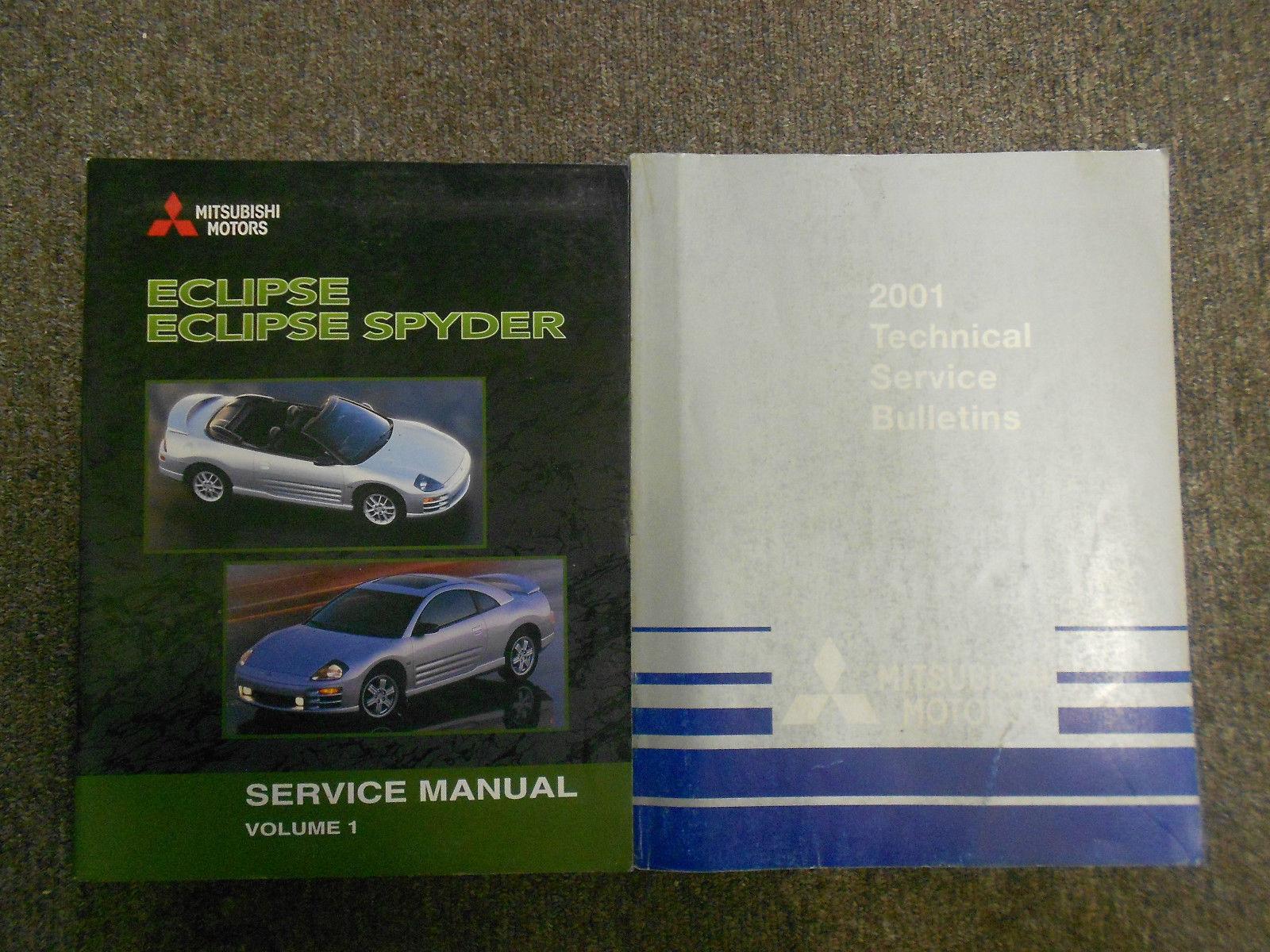 2001 MITSUBISHI Eclipse Spyder VOL 1 Technical Bulletins Service Manual SET OEM