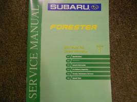 2001 Subaru Forester General Information Section 1 Service Repair Shop Manual - $39.56