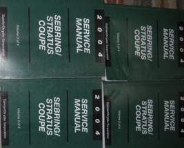 2004 Chrysler Sebring Dodge Stratus Coupe Service Repair Shop Manual Set 4 Volum - $98.99