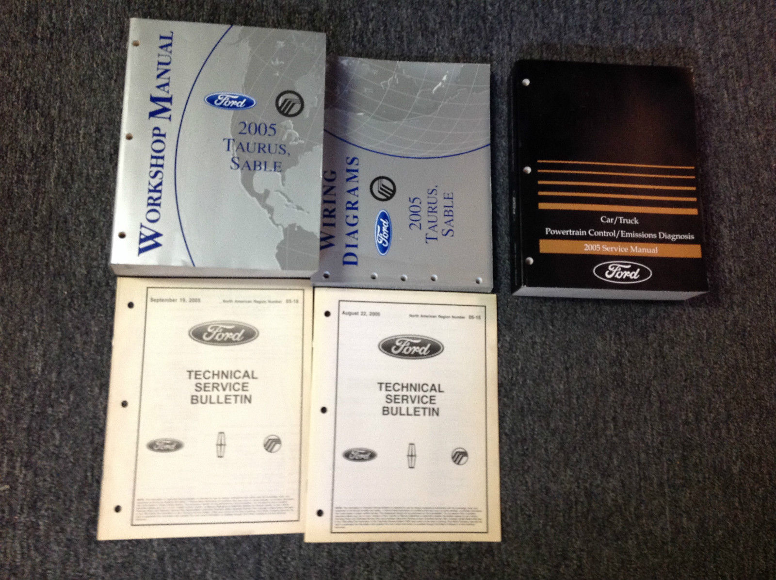 Primary image for 2005 Ford Taurus & Mercury Sable Service Shop Repair Manual Set W EWD + PCED OEM