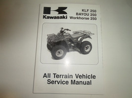 2006 2007 2008 Kawasaki Klf 250 Bayou 250 Workhorse 250 Atv Service Manual New - $138.55