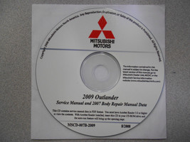2009 2007 MITSUBISHI OUTLANDER Service Repair Manual CD FACTORY BARGAIN ... - $98.95