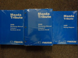 2009 Mazda Tribute Service Repair Shop Workshop Manual Set W EWD OEM 2009 - $74.23
