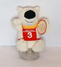 Hallmark Christmas Polar Bear Plush Toy Zip a Long Pull Back Racer with ... - $4.90