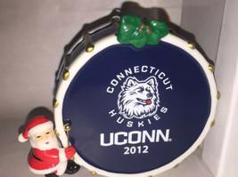 Danbury Connecticut Huskies Uconn Team Porcelain Christmas Ornament Drum... - $24.75
