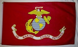 United States Marine Corps Retired 3' X 5' Indoor Outdoor Licensed Banner - $12.95