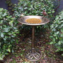 "28"" Birdbath Height Pedestal Bird Bath Antique Outdoor Garden Decor Vintage - $35.52"