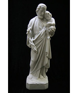 Saint Joseph with Jesus Child Italian Statue Sculpture Indoor Outdoor  - $99.95