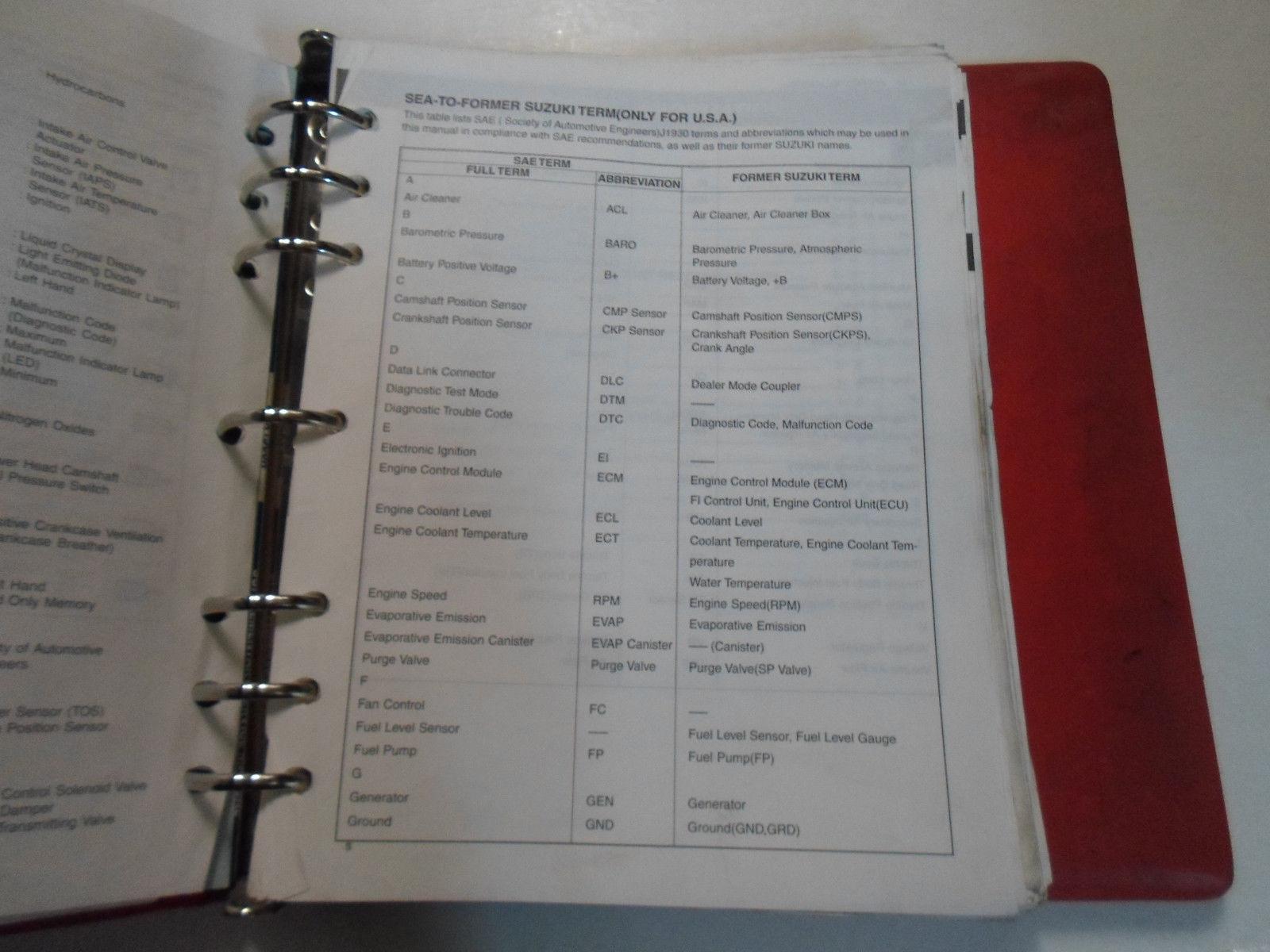 ... 2000 2001 Suzuki GSX1300R Service Repair Manual BINDER 3 VOLUME SET  STAINED OEM ...