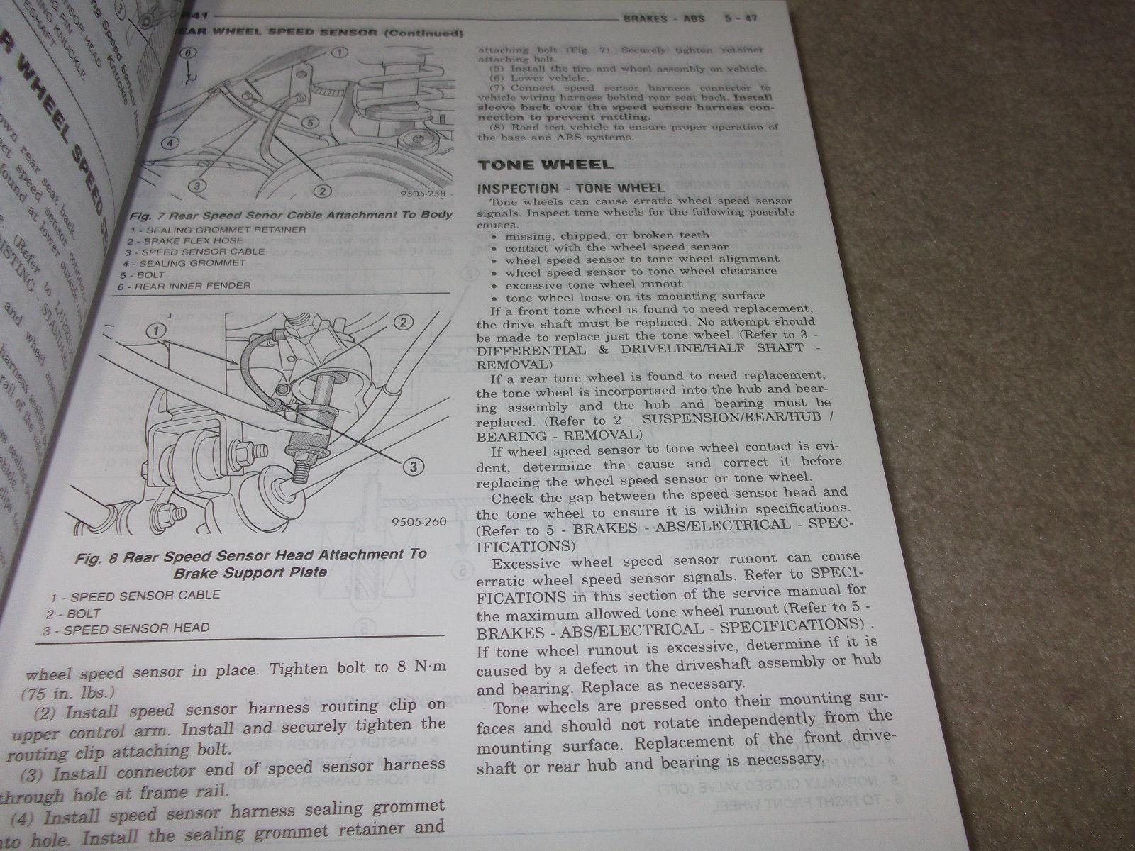 2001 CHRYSLER SEBRING & STRATUS SEDAN Service Shop Repair Manual SET HUGE 6 VOL image 7