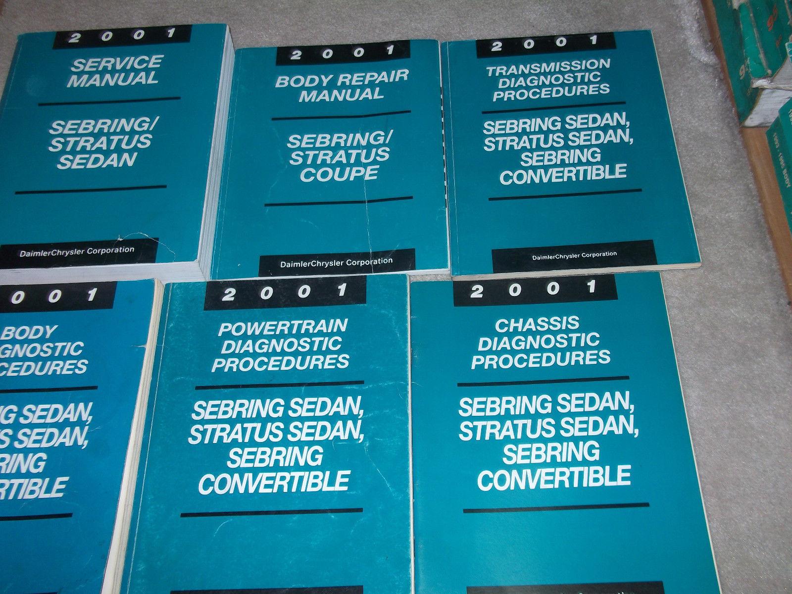 2001 CHRYSLER SEBRING & STRATUS SEDAN Service Shop Repair Manual SET HUGE 6 VOL image 5