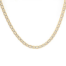 "5.0 mm Diamond Pave Cut GUCCI Chain Necklace Italy 14K Yellow Gold 20"" long - $1,424.61"