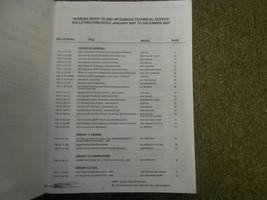 2001 MITSUBISHI Eclipse Spyder VOL 1 Technical Bulletins Service Manual SET OEM image 6