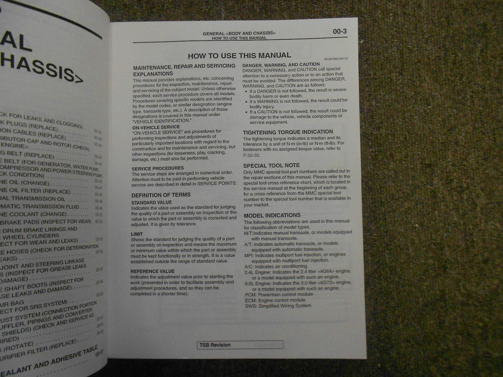 2001 MITSUBISHI Eclipse Spyder VOL 1 Technical Bulletins Service Manual SET OEM image 3
