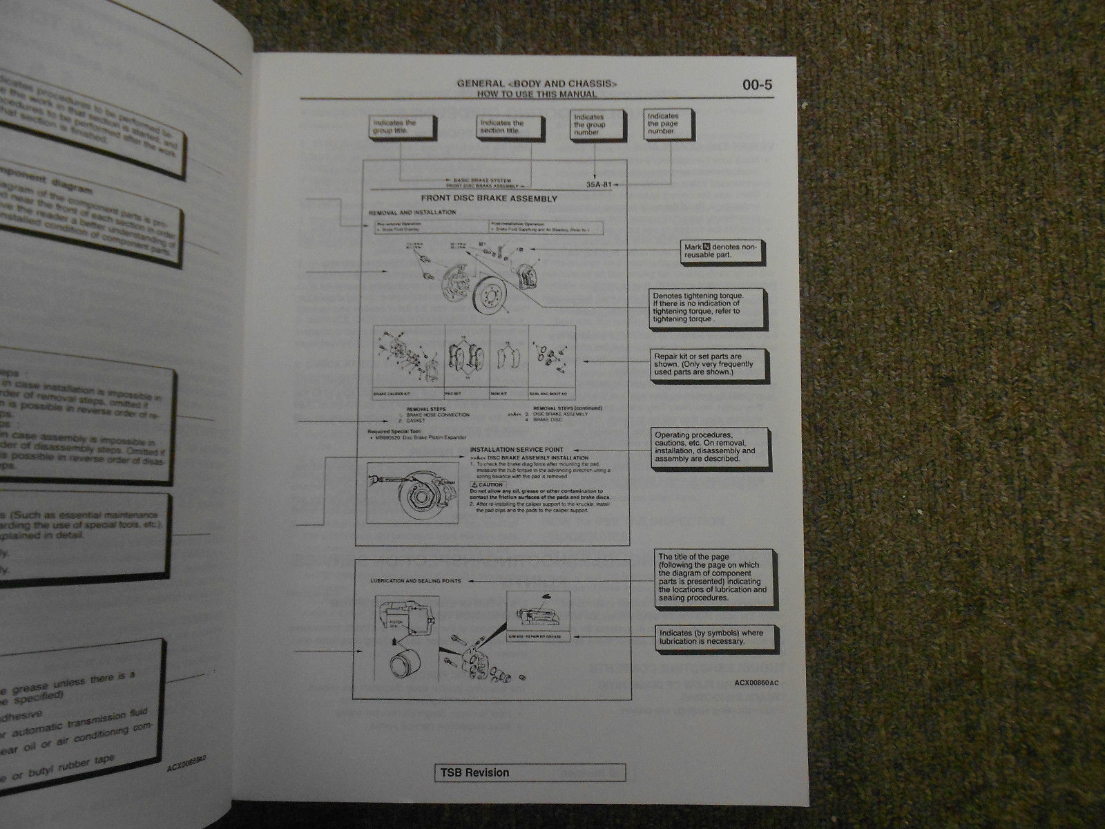 2001 MITSUBISHI Eclipse Spyder VOL 1 Technical Bulletins Service Manual SET OEM image 4