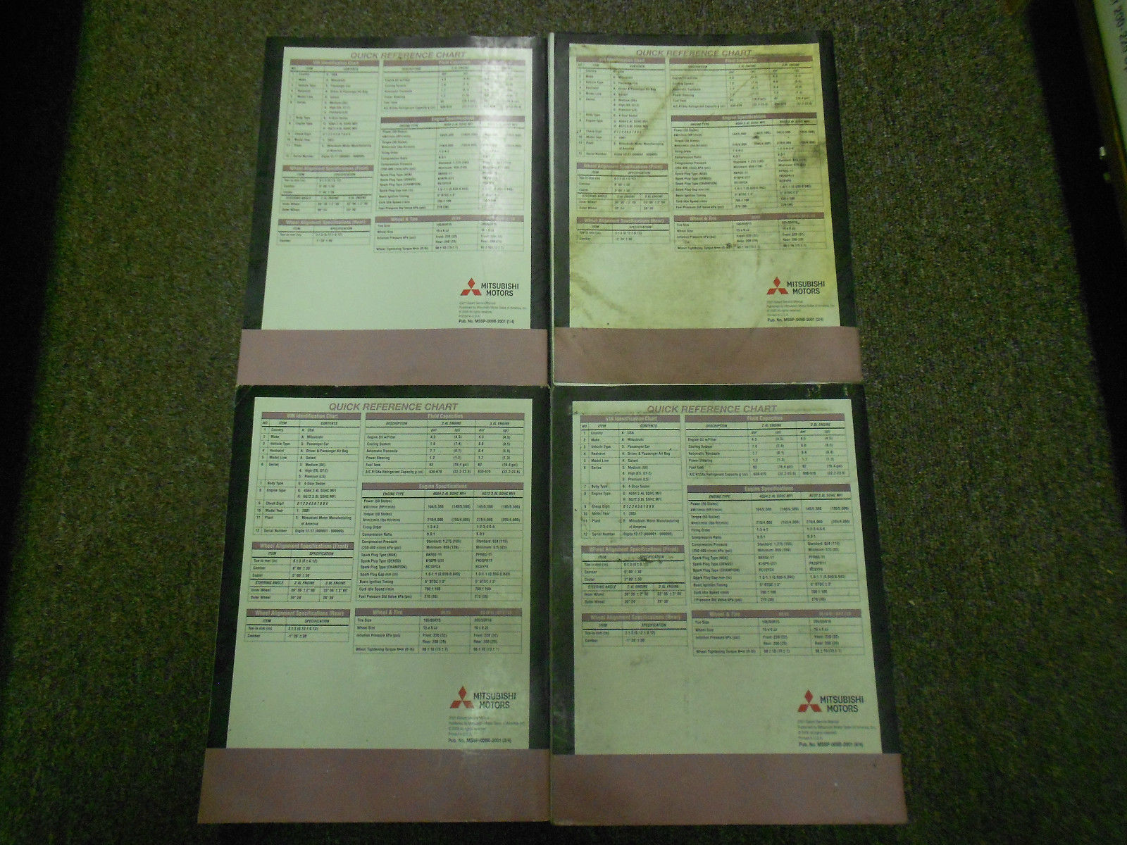2001 MITSUBISHI Galant Service Repair Shop Manual FACTORY OEM SET BOOK x 4 VOL image 7