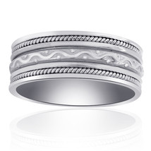 8.35mm 14K White Gold Comfort Fit Mens Band - $533.61