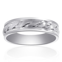 6.0mm 14K White Gold Comfort Fit Mens Band - $494.01