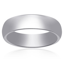 14K White Gold Comfort Fit Concave Mens Wedding Band - $522.72