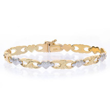 6.9mm Ladies14K Yellow Gold Polished Infinities and 14K White Gold Satin Hearts - $454.41