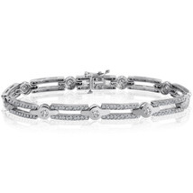 2.50 Carat G-SI1 Natural Round Brilliant Cut Diamond Bracelet 14K White Gold - $3,177.90