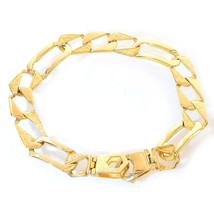 11.3mm 14K Yellow Gold Sleeve Figaro Chain Bracelet - $1,583.01