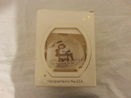 HAND PAINTED ORNAMENT HEART GIFTS XMAS CHRISTMAS TERESA THIBAULT USA TOO... - $4.94