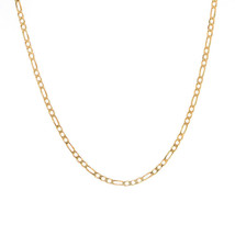 4.6 mm 14K Yellow Gold Classic Figaro Chain Necklace Italy - $1,117.71