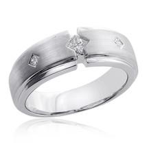 0.25 Carat Mens Princess Cut Diamond Wedding Band 14K White Gold - $940.50