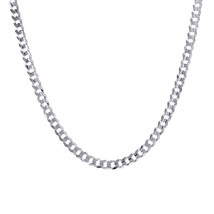 6.1 mm 14k White Gold Curb Chain Necklace - $1,672.11