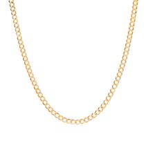 3.6 mm 10k Yellow Gold Curb Chain Necklace - $335.61