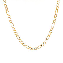 5.2 mm 14K Yellow Gold Classic Figaro Chain Necklace - $979.11