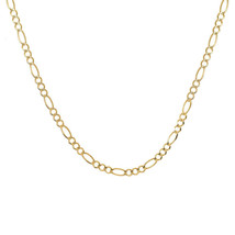 """4.0 mm Figaro Link Chain Necklace 14K Yellow Gold Italy 22"""" long - $870.21"""